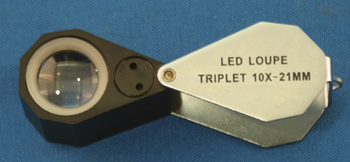 10X illuminated triplet loupe