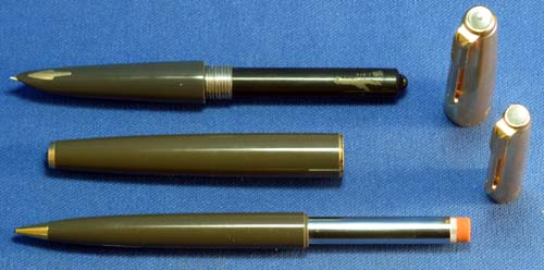 PARKER 61 SET WITH GOLD FILLED CAPS