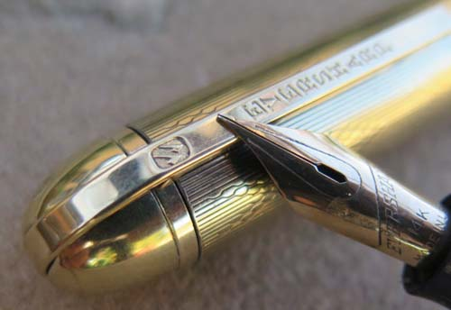 EVERSHARP SKYLINE MODEL 76 (SHORTER SIZE) FOUNTAIN PEN WITH WET NOODLE SUPER FLEXIBLE 14K NIB