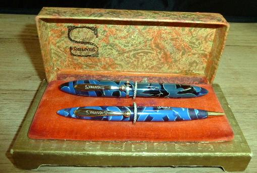 sheaffer Blue and black marble balance