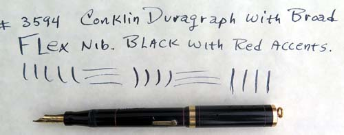 CONKLIN ENDURA RINGTOP WITH FLEXIBLE BROAD NIB