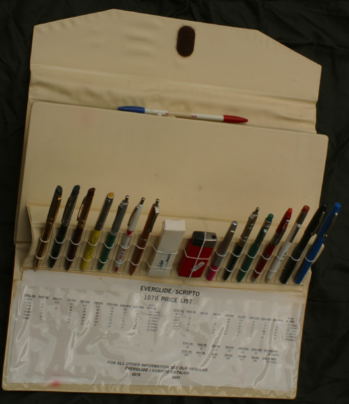 SCRIPTO SALESMAN'S SAMPLE CASE