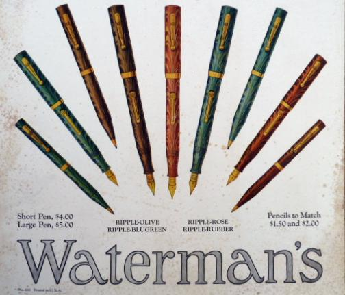WATERMAN'S RIPPLE PENS