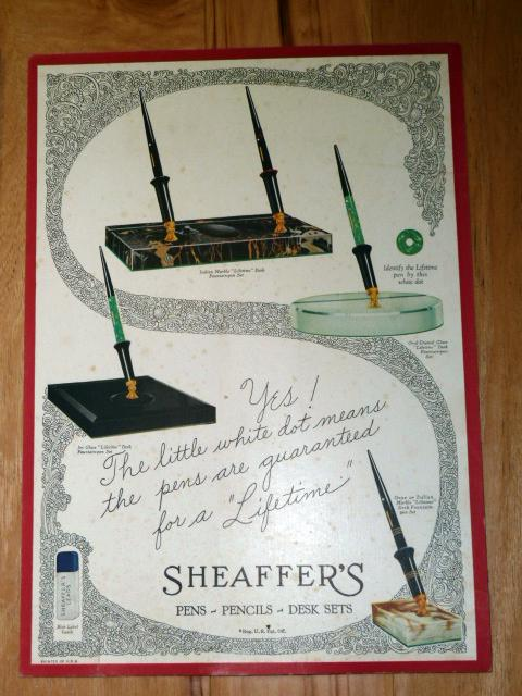 SHEAFFER DESK SET AD