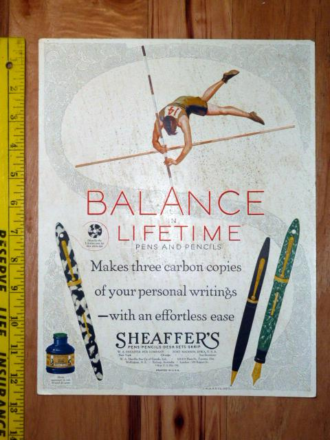SHEAFFER BALANCE POLE VAULTER