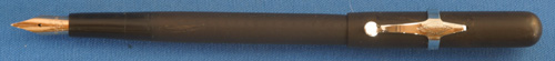 DIAMOND POINT BLACK HARD RUBBER EYEDROPPER FILLER FOUNTAIN PEN