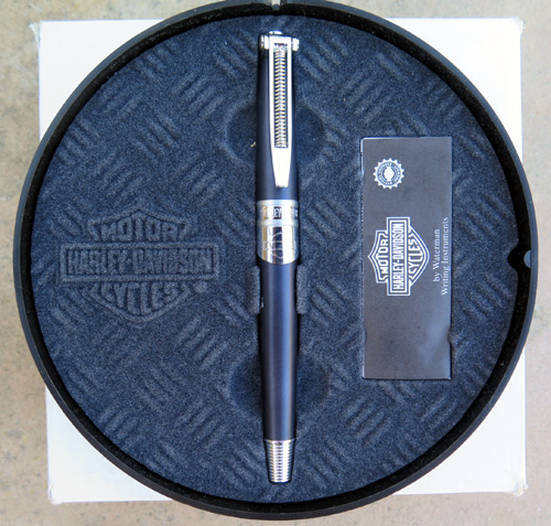 WATERMANS HARLEY DAVIDSON COMBUSTION FOUNTAIN PEN. SERIALIZED