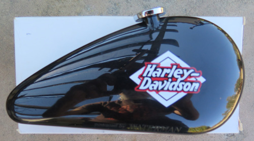WATERMANS HARLEY DAVIDSON BALLPOINT PEN IN BLACK AND CHROME