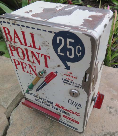 VINTAGE BALLPOINT PEN VENDING MACHINE