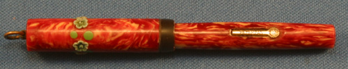 PETER PAN RED MARBLE FOUNTAIN PEN