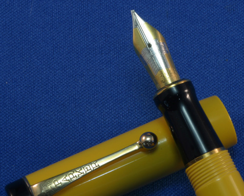 RIGHT OBLIQUE DOUBLE BROAD PARKER DUOFOLD FOUNTAIN PEN