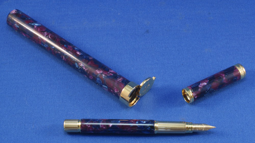 WATERMANs LADY AGATHE FOUNTAIN PEN IN BLUE AND VIOLET