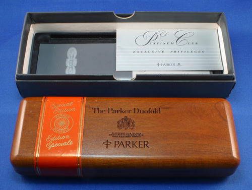 PARKER DUOFOLD PENCIL IN ORANGE
