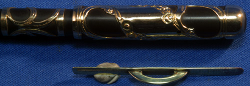 GOLD FILLED FILIGREE CONKLIN CRESCENT