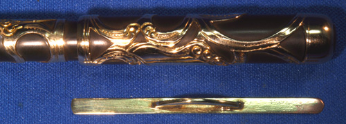 GOLD FILLED FILIGREE CONKLIN CRESCENT FILLER