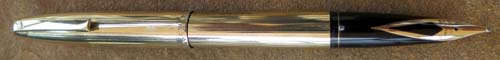 NEW OLD STOCK SHEAFFER GOLD PLATED SOUVEREIGN LINED PATTERN CARTRIDGE/CONVERTOR FILLING PEN