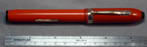 PACKARD BIG FATTY BRIGHT ORANGE FOUNTAIN PEN