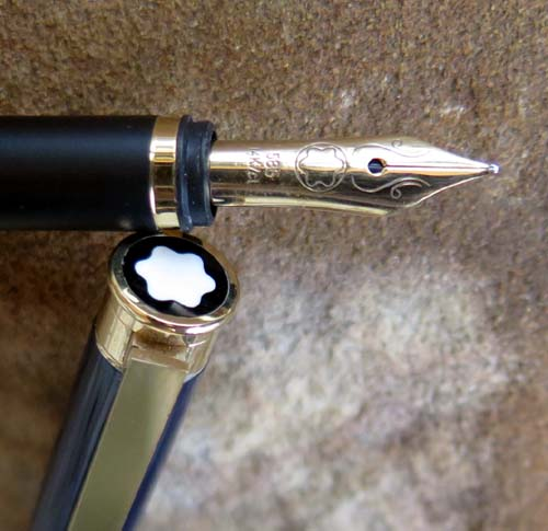 MONTBLANC NOBLESSE IN MIDNIGHT BLUE LAQUER, ca 1988 NOS