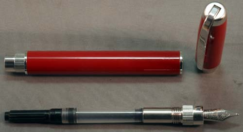 FRANKLIN-CHRISTOPH FOUNTAIN PEN IN RED / SILVER