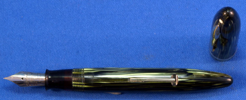 SHEAFFER OVERSIZED BALANCE IN GREEN PEARL STRIPES