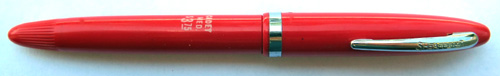 SHEAFFER CADET TOUCHDOWN FILLING FOUNTAIN PEN WITH STUB MANIFOLD NIB IN CHERRY RED