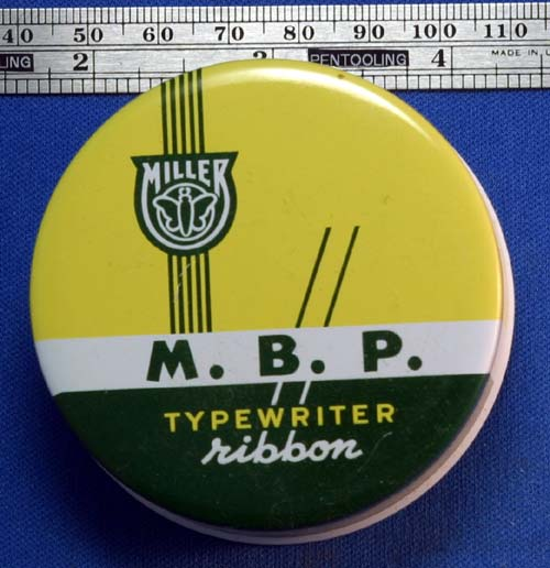 M.B.P. TYPEWRITER RIBBON TIN