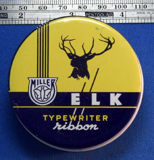 MILLER / ELK  TYPEWRITER RIBBON TIN