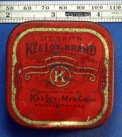 KEELOX TYPEWRITER RIBBON TIN