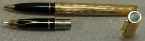 SHEAFFER BROAD NOS TARGA FOUNTAIN PEN AND ROLLER BALL