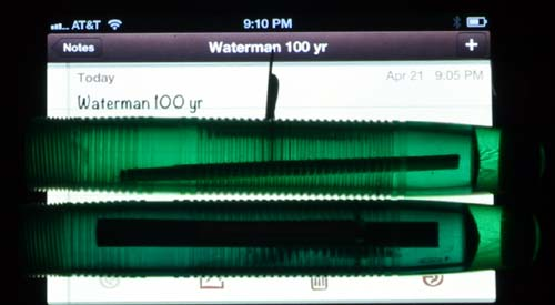 CLEAR GREEN WATERMANS 100 YEAR PEN BARRELS