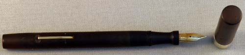 SHEAFFER FOUNTAIN PEN WITH SOLID 14K WIDE BAND