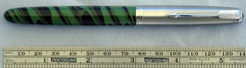 CUSTOM 51 WITH GREEN/BLACK SWIRL ACRYLIC BY BEXLEY