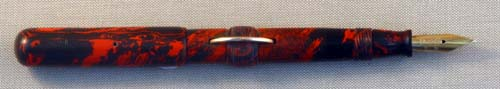 CONKLIN RED MOTTLED HARD RUBBER P3 FOUNTAIN PEN