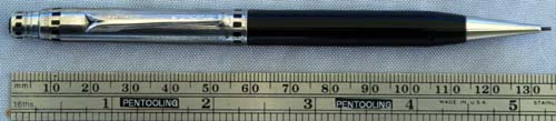 EVERSHARP REPEATING PENCIL IN BLACK W/ RHODIUM TOP and TRIM
