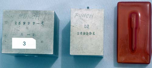 PARKER FACTORY TOOLING USED TO STAMP OUT PEN CLIPS