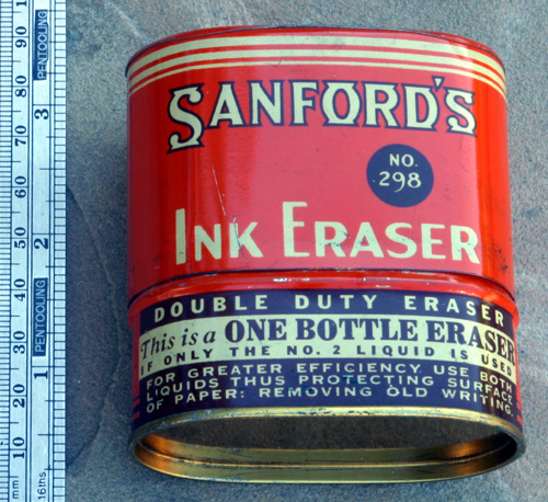 SANFORD'S INK ERASER No. 298