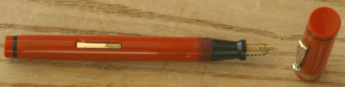 DIAMOND PP FOUNTAIN PEN IN ORANGE / BLACK