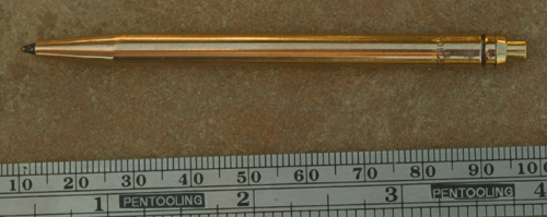 ROLLED GOLD UNMARKED CLICKER BALLPOINT.