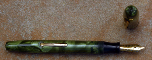 EPENCO GREEN / PEARL MARBLE FOUNTAIN PEN