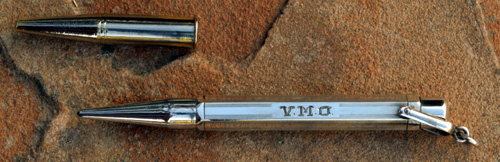 MABIE TODD FYNE POINT STERLING SILVER vICTORIAN PENCIL