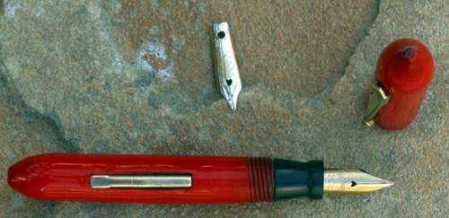 TINY RED FOUNTAIN PEN BY THE SOUTHERN PEN COMPANY