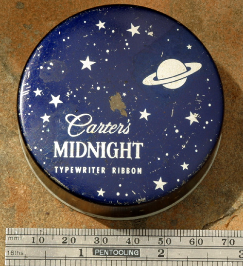 CARTER'S MIDNIGHT TYPEWRITER RIBBON BOX