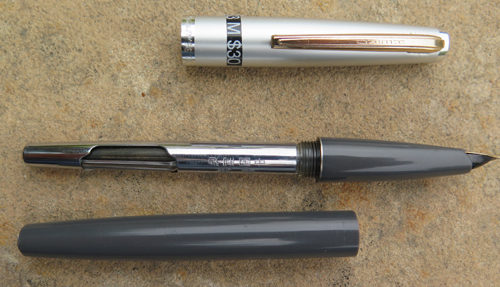 HERO FOUNTAIN PEN WITH INLAY WORK ON SHELL