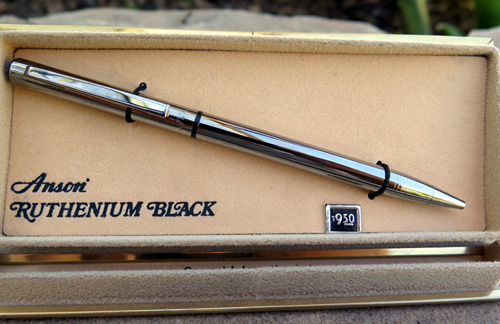 ANSON RUTHENIUM BLACK TWIST BALLPOINT.