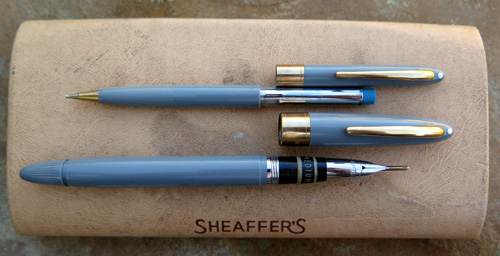 SHEAFFER SNORKEL IN GREY, NEW OLD STOCK