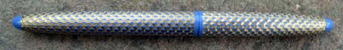 "CLIPLESS LADY SCRIPSERT ""PAISLEY"" PATTERN IN BLUE/GOLD. New old stock"