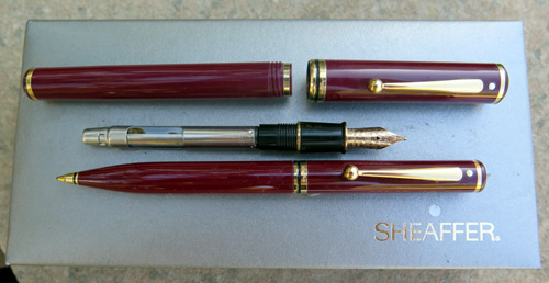 SHEAFFER CONNAISSEUR MINT SET IN BURGUNDY