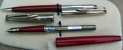 PRISTINE EXAMPLE OF WATERMAN CF IN RED
