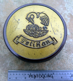 PELIKAN BAKELITE TYPEWRITER RIBBON BOX.