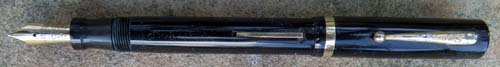 SHEAFFER #8 BLACK FLAT TOP. FOUNTAIN PEN